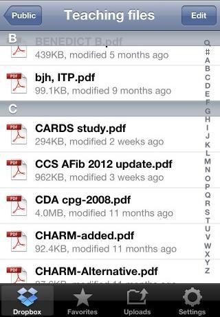 Dropbox app article by Dr. Steve Wong for TCMP